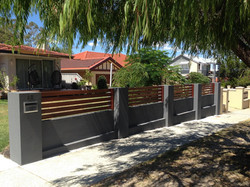 Front fence York st Beaconsfield