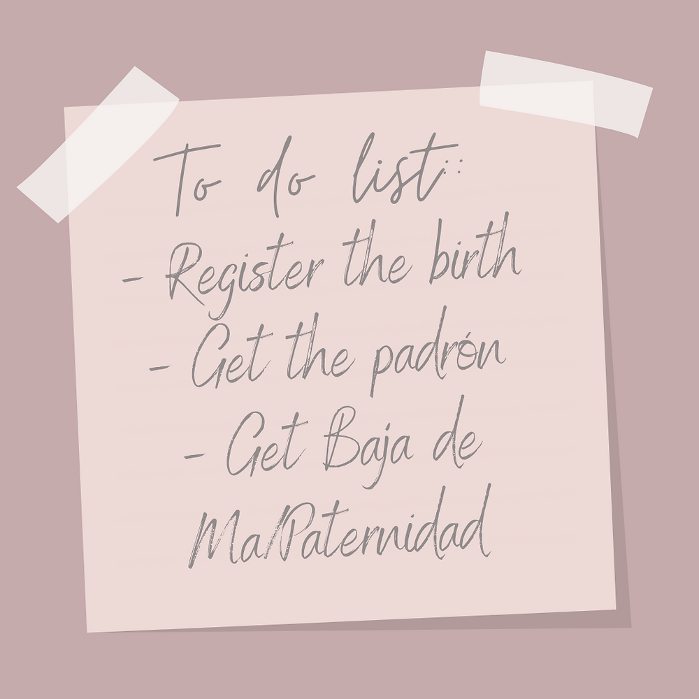 doula in madrid, to do list