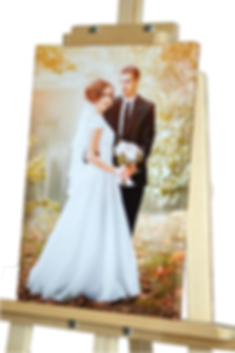 Wedding photo printed on canvas and mounted over a wooden frame - Image wraps over the sides - Johannesburg