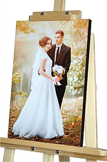 Wedding photo printed on canvas and mounted over a wooden frame - Black sides - Johannesburg
