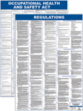 Laminated A1 poster of the OHSA, Occupational Health & Safety Act with Regulations, Gauteng, Johannesburg, Sandton, Germiston, Randburg, Malvern