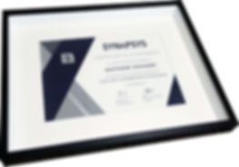 Modern black and white box from on a achievement certificate.