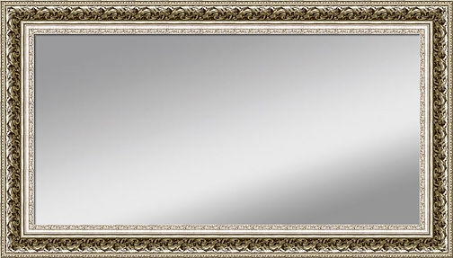 Beautiful large mirror framed with a German Silver ornate frame.