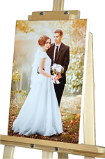 Wedding photo printed on canvas and mounted over a wooden frame - White sides - Johannesburg