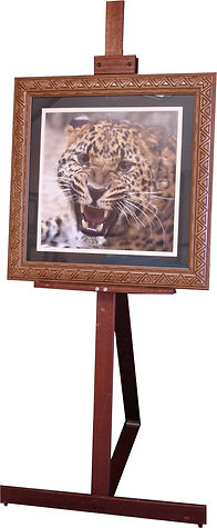 Easel for hire with frame. (Wooden Display Easel)