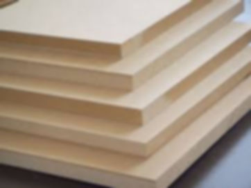Sheets of 12mm supawood that are used for block mounts.