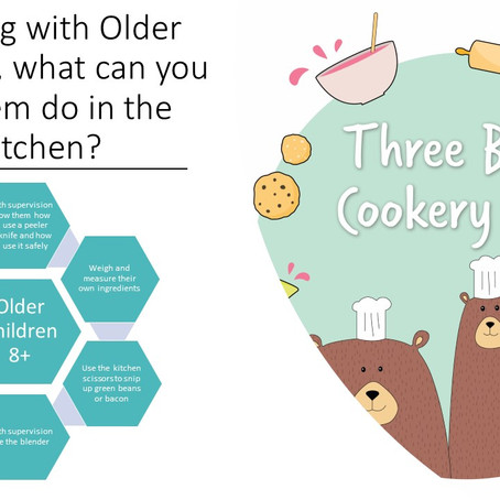 Cooking with Older Children; What can you let them do in the kitchen?