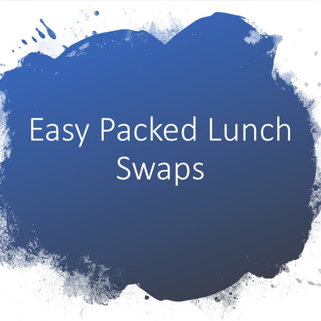 Back to School..Easy Packed Lunch Swaps