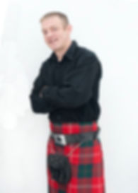 Willie Chisholm - accordion player with Tarmachan, ceilidh band in Perthshire