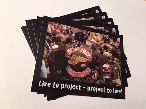 """Live to Project"" Postcards"