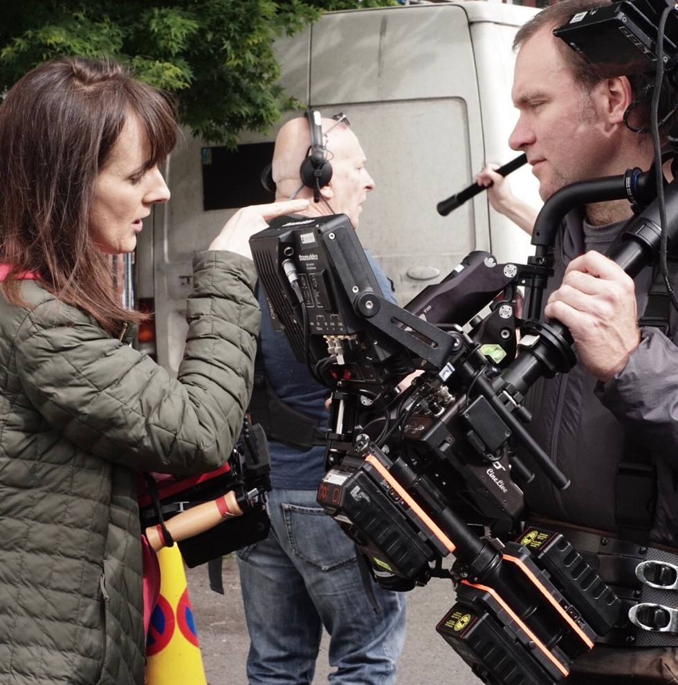 Opening shot - Sally Cancello and Robert