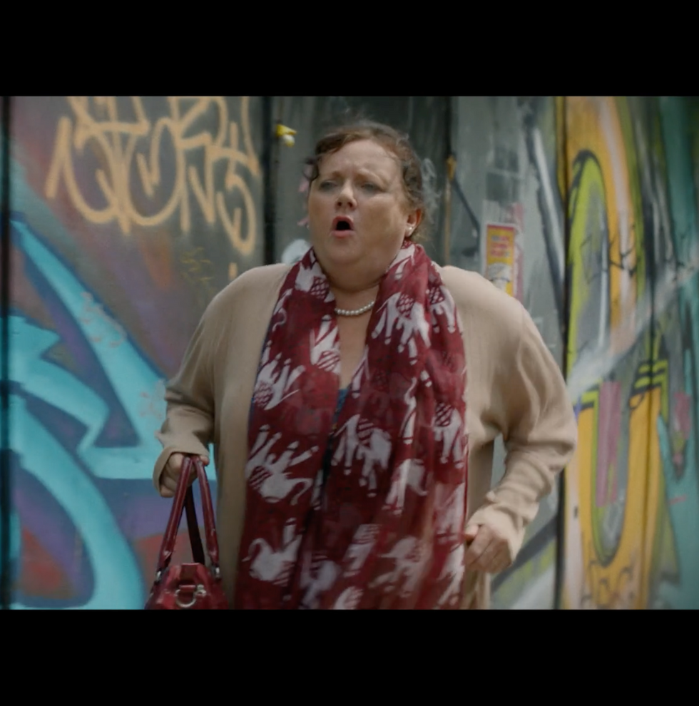 Running to the bank - Maureen Badger (Gi