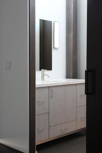 modern lake house. custom cabinetry