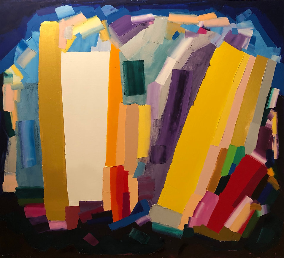 Ribal Molaeb 100x110 cm oil on canvas