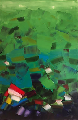 Ribal Molaeb, Oil on Canvas