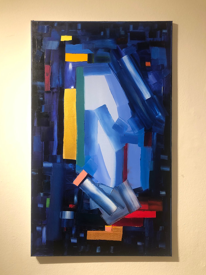 Ribal Molaeb 100x60 cm - oil on canvas