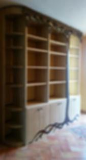 bibliothèque en châteignier et wengué.jp