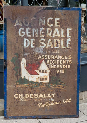 Superb Large French Sign