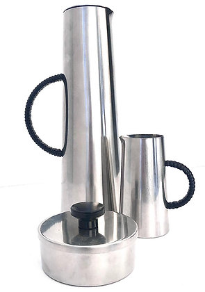MID-CENTURY STAINLESS STEEL COFFEE SET