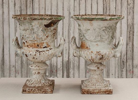 Stunning Pair of Regency Cast Iron Urns