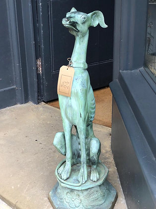 French Vintage Metal Greyhound Whippet