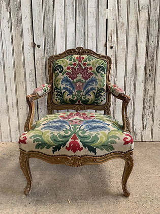 French chair with tapestry cover