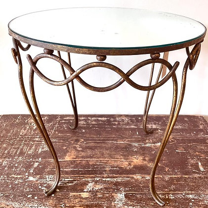 RENE DROUET GLASS TOPPED TABLE