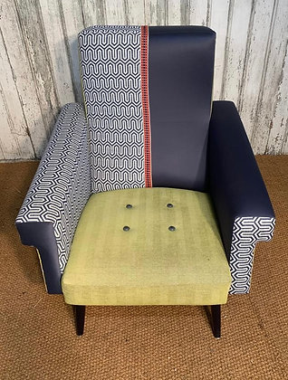 UPCYCLED FRENCH ARMCHAIR 1950s