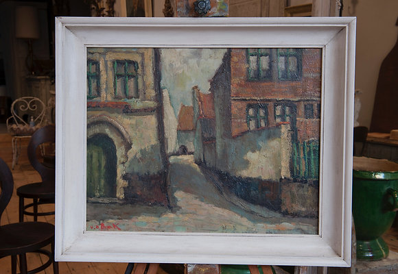 FLEMISH ARCHITECTURAL OIL ON CANVAS