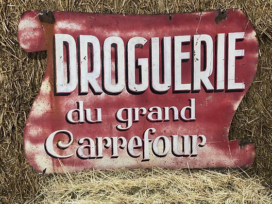 DOUBLE SIDED DROGUERIE SIGN