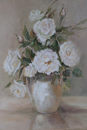ROSES BYE - oil on canvas board