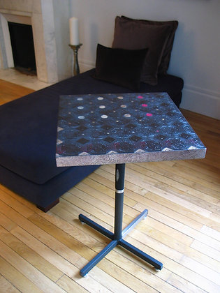 UPCYCLED COFFEE TABLE WITH FISH SCALE DETAIL by Anne d'Autruche