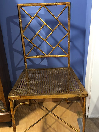 Pair of 1950s Gold Decorative Chairs