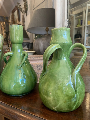 Two Sussex Pottery Vases
