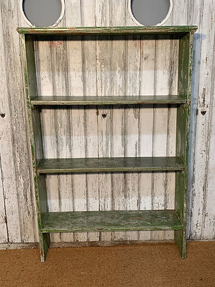 SET OF VINTAGE SHELVES IN A LOVELY FADED GREEN COLOUR