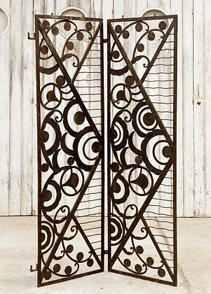 Highly Decorative French Art Deco Cast Iron Screen
