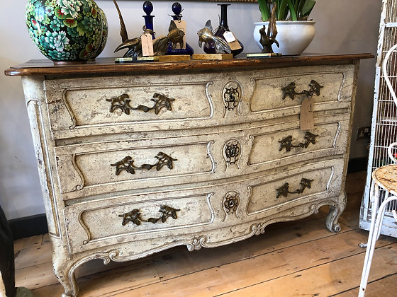 French Chest c1890/1910 with Dog Handles