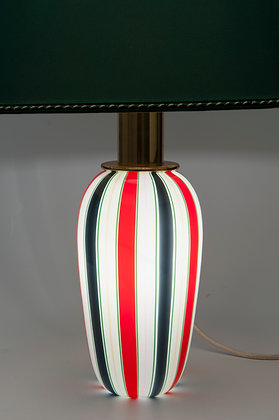 1970s MURANO LAMP DESIGNED BY PAF MILANO WITH ORIGINAL SHADE