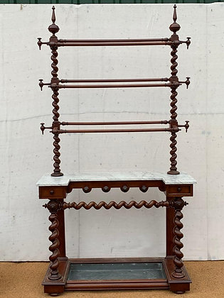 Victorian Mahogany and Marble Hall Stand