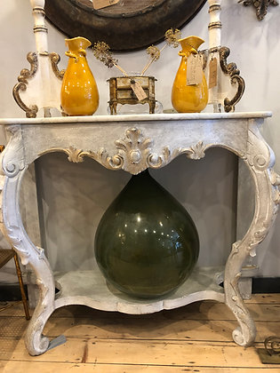 Painted Console with Marble Top