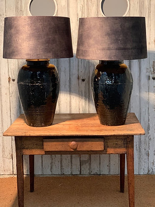 BLACK OLIVE OIL LAMPS