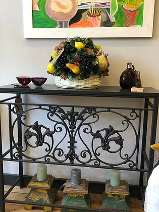 Pair of French Console Tables with Slate Tops