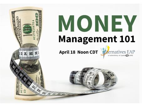 April Wellness Webinar: Money Management 101