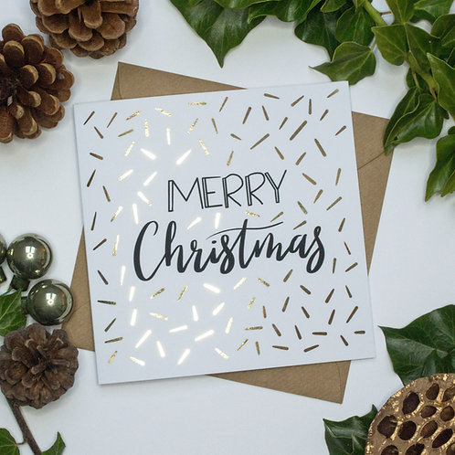 Luxury Gold Foil Christmas Confetti