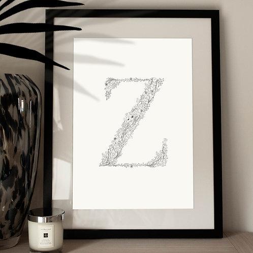 Botanical Letter Print N-Z