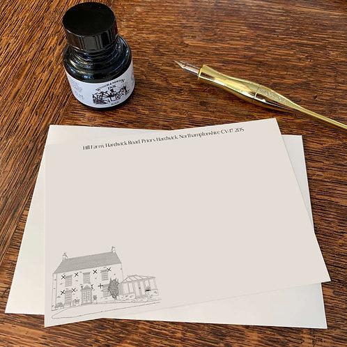 Personalised House Illustration Correspondence Cards