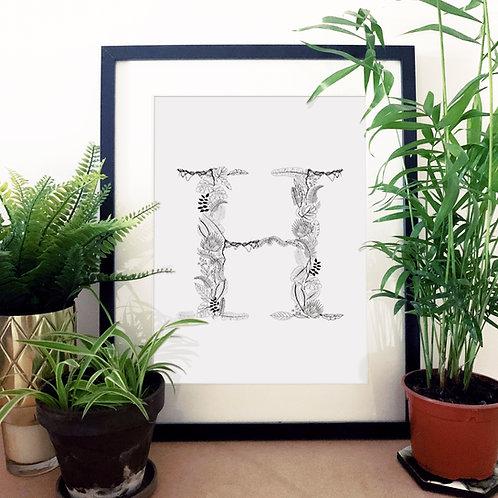 Jungle Letter Print N-Z