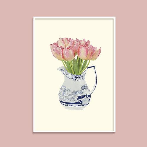 Tulips in a Spode Jug Fine Art Giclée Print