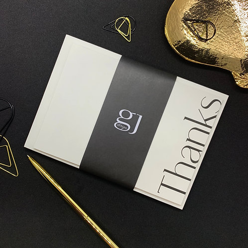 Typographic Thank You Cards