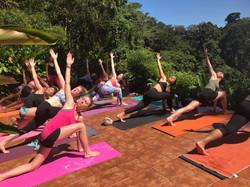 """Morning """"hot"""" yoga :)"""
